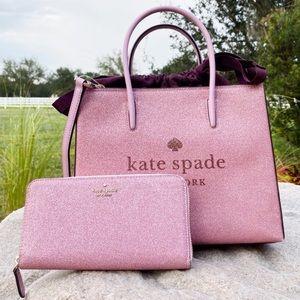 SET🌸NWT Kate Spade Satchel & Crossbody Rose Pink